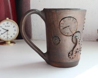 Gift for man, Ceramic cup, ceramic mug, Clay mug, pottery tea cup