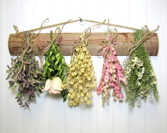 Dried Flower Rack, Drying Rack, Dried Flower Arrangement, Farmhouse Decor