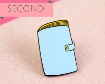 SECONDS Planner Enamel Pin, Planner lapel pin, Ring Bound Planner Pin, Planner binder pin | Claireabellemakes
