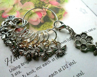 10 Knitting stitch marker rings Julia's Bees