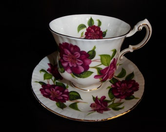 Vintage Paragon Teacup and Saucer Camelia Series Alexander Hunter Signed