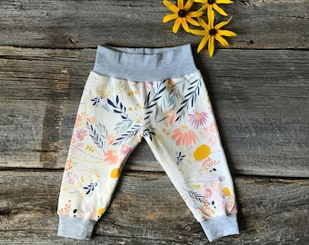 Baby Joggers, Floral Baby Joggers, Light Baby Joggers, Baby Girl Pants, Baby Leggings, Floral Leggings