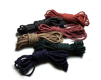 BDSM Rope 4x26ft 8mm, Shibari rope bondage, shibari rope bondage kit, Rope 8m Jute, kinbaku, shibari rope, bondage rope, bdsm bondage play