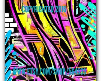 Your Custom Initial in Graffiti Art Canvas