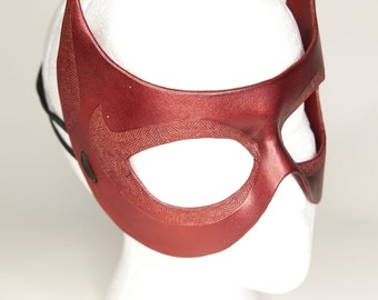 Leather Red Devil or Cat Mask