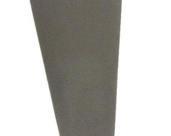 Grey Velvet Necklace Display Padded Easel 4 1/4x8 7/8H