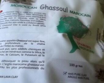 100% Natural Moroccan Ghassoul Clay-100g by Shakara Natural