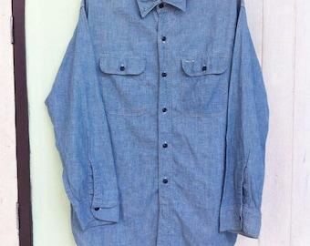 Vintage 60's Sears Chambray Shirt