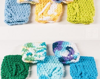 Crochet Soap Saver, Spring Soap Saver by Sam, USA Grown Cotton, US Shipping Included Bath, Soap, Shower,  Bathroom, Scrub, Spa, Clean