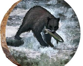 Bear Catching a Fish - DAB174