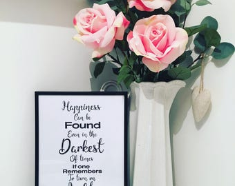 Happiness can be found print