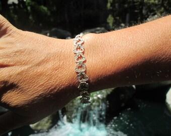 Ornate Hearts Sterling Silver Bracelet
