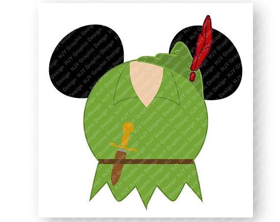 Disney Peter Pan Icon Minnie Icon Mickey Mouse Ears Head