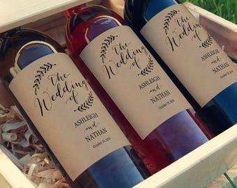 Rustic Wedding Wine Label, Wedding Printable, Wine Label Printable, Wine Bottle Label, Calligraphy Wine Label, PDF Instant Download, MM05-2