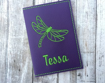 Ultra Violet Passport Cover - Dragonfly Passport Holder - Passport Wallet with Name - Travel Gift - Passport Case - Ultraviolet Personalized