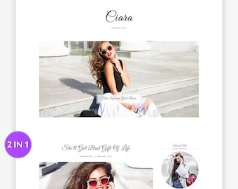 Blogger Template - Responsive Blogger - Premade Blogger Template - Minimal - Minimalist - Blogger Theme - Customizable - Slider - Sale Ciara