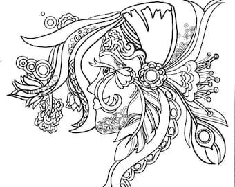 12 Empowering Affirmations ColoringPages Vol.1 Original Art