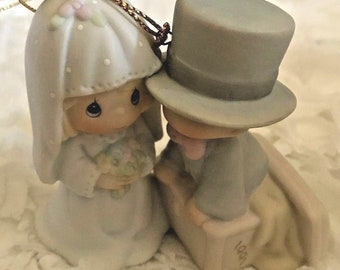 Enesco Precious Moments Our First Christmas Together 1991 Ornament #522945