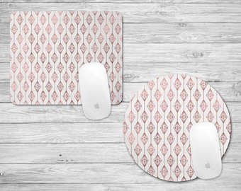Rose Gold Geometric Mouse Pad | Rose Gold Mousepad | Geometric Pattern | Geometric | Gifts for Her