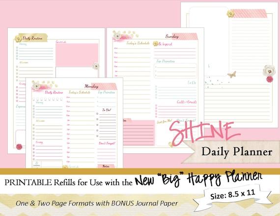 Academic Calendar Planner Refill : Big happy planner printable daily calendar inserts refills