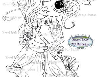 INSTANT DOWNLOAD Digital Digi Stamps Big Eye Big Head Dolls Bestie New Bestie Img618 My Besties By Sherri Baldy