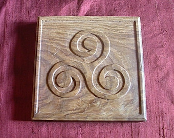 Year Teir Mammenn: woodcarving - Wood carving / Celtic tracery - Celtic knotwork