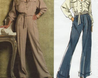 Vogue Paris Original 2955 / Designer Sewing Pattern By Guy Laroche / Pants Trousers Jacket Suit Pantsuit / Sizes 6 8 10 12