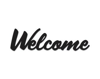 Welcome | Word Art Cutout | Wall Art | Wall Decor | Home Decor