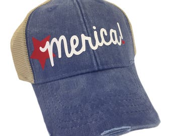 Merica Garment Washed Adult Hat