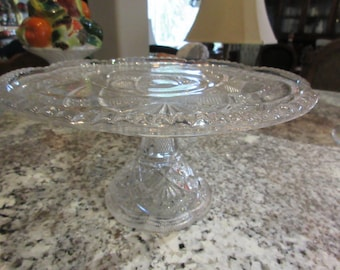 PRESSED GLASS CAKE Stand