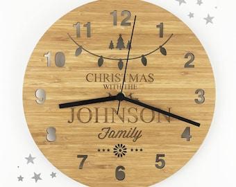 Christmas Bamboo Clock