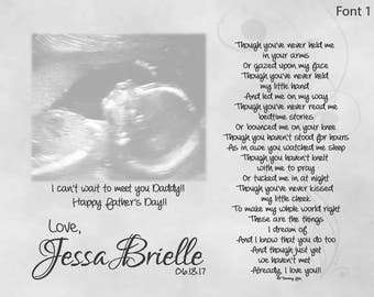 Unborn baby etsy daddy to be fathers day gift from unborn baby personalized poetry print though youve negle Gallery