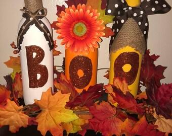 Fall inspired wine bottles!