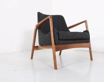 Mid Century Modern Sculptured Upholstered chair - Kofod-Larsen Inspired
