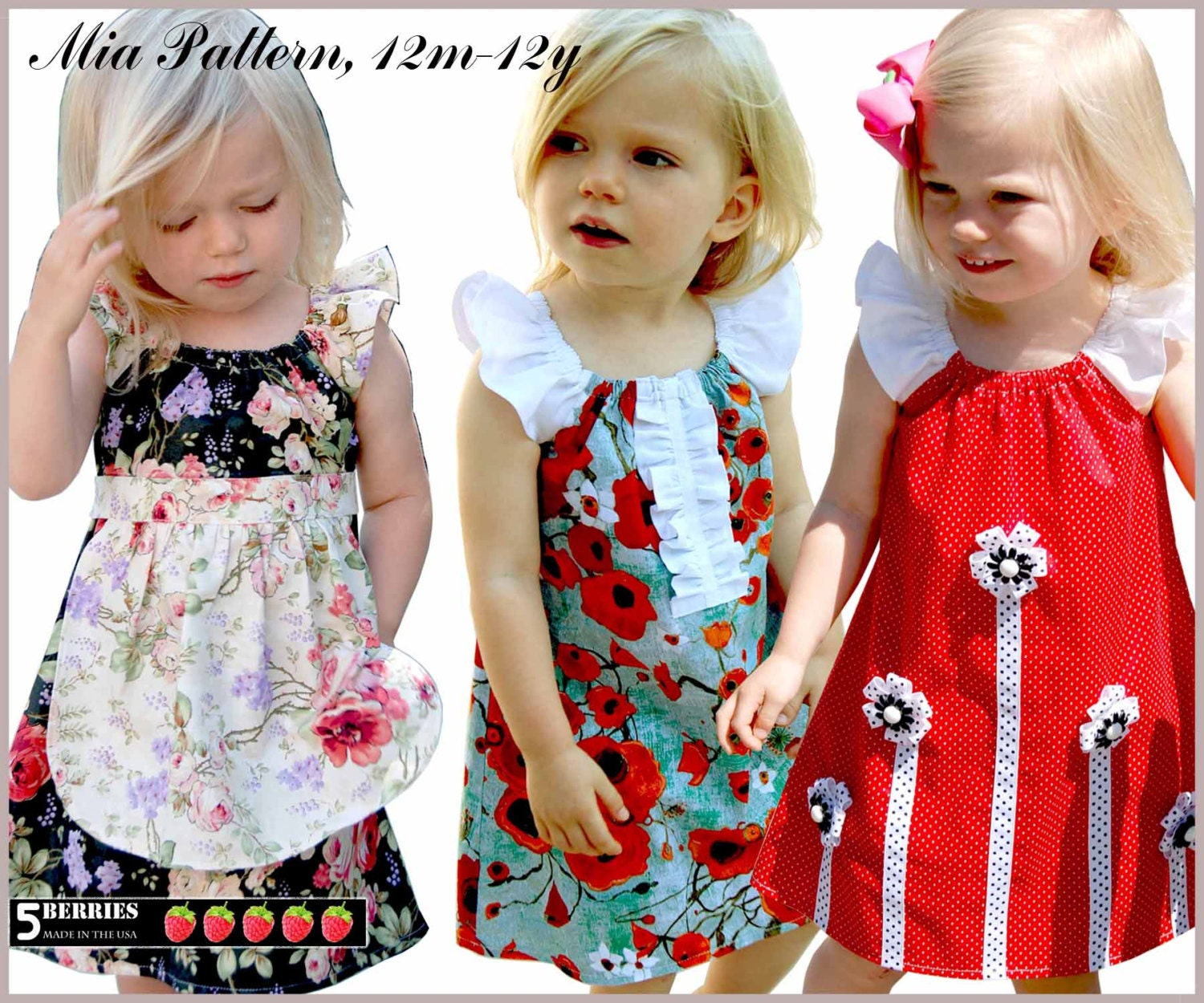 Mia peasant dress pattern free mother daughter apron zoom jeuxipadfo Image collections