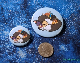 Voltron Paladins Space Catnaps 1.25 in and 2.5 in Pin Buttons