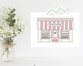 Greeting Card | My Little Town Collection | Sherbet Sweet Shop