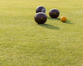 Lawn Bowling Balls on the Green