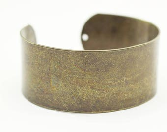 Handmade Wide 25 mm Antique Bronze Cuff Bracelet Bangle, 25 mm Bracelet Blank, Cuff Bracelet, Handmade Cuff Bracelet Bangle, BREB