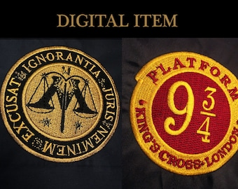 Harry Potter Platform 9 3/4 King's Cross London and Ministry of Magic Machine Embroidery Designs