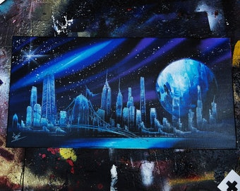 Plutonium. Spray Paint Art.