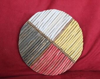 Stove Kindling Art -- Wooden Medicine Wheel
