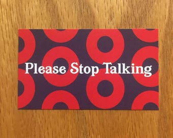 Phish Stop Talking Cards