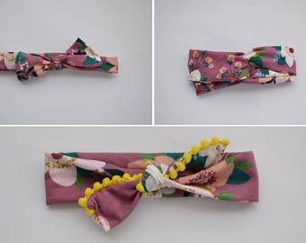 Plum Color Headbands - fabric headbands - knotted headbands - boho headbands - floral headbands - newborn headbands - newborn baby gifts