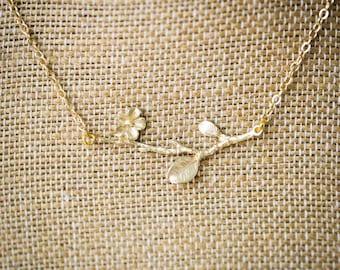 Cherry Blossom Necklace (One Blossom)