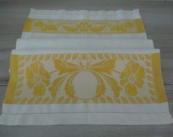 Beautiful Damask Towel Vintage Antique Linen