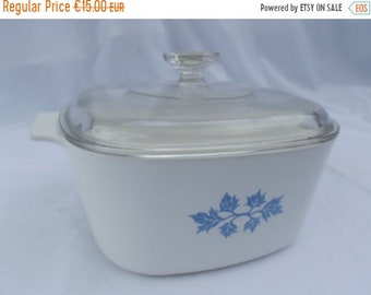 HALF PRICE SALE Vintage casserole dish with lid, quality Pyroflam, chunky casserole pot/ dish, solid, feels like cast iron