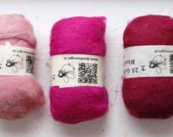 BHEDA COLLECTION ~ GRASSHOPPER ~ needle felting wool 5 x 25g Co.No.WB0580