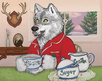 Mr. Wolf's Coffee Print