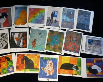 Fiber Art Note Cards any 5 for 12.50